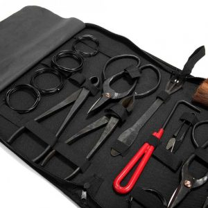 Maletin y herramientas baratas para bonsai.