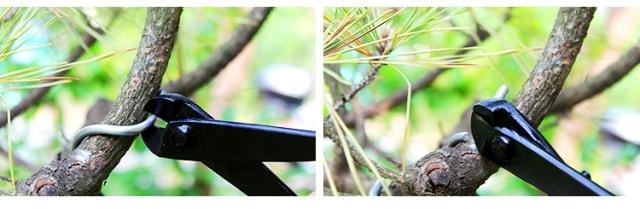 Retirando alambre en una rama