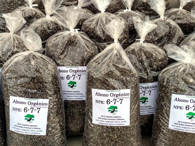 bolsas de abono orgánico 6-7-7 utilizado en bonsai