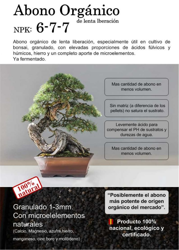 banner de nuestro Abono para el  bonsai de origen nacional, producido en españa