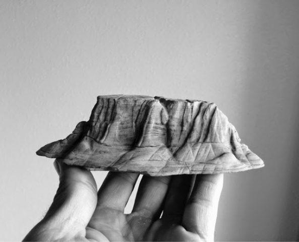 suiseki. piedra de estrato