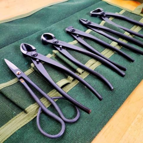 completo set de herramientas para bonsai marca zhu ji