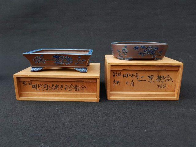 Dos macetas Tosui de la coleccion partucular de Javier Campos.