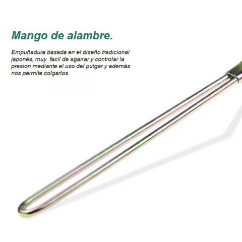 mango de alambre de los cepillos